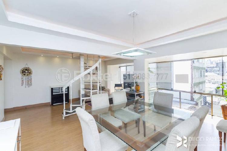 Cobertura para venda tem 108 metros quadrados com 3 quartos