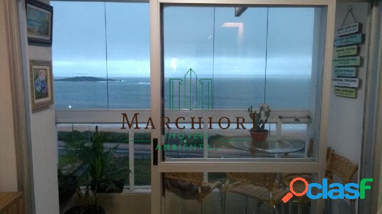 3 quartos 1 c/ suíte, vista pro mar, porcelanato, fechamento de varanda