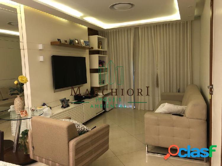 Apto 3 quartos (1 suíte), montado, decorado, 2 vagas, lazer na cobertura