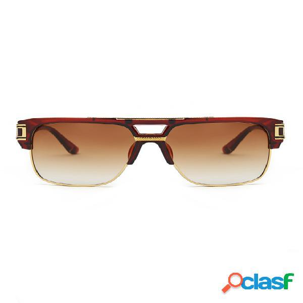Óculos de sol quadrados de luxo retrô masculino