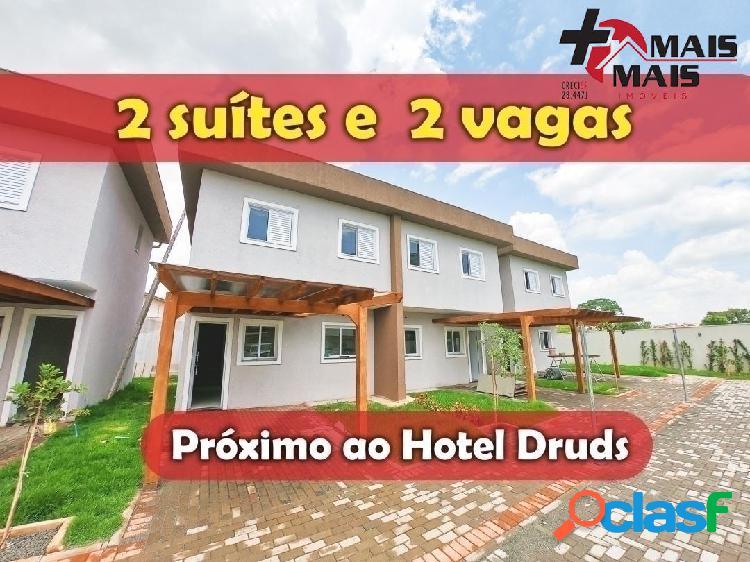 Villagio la luna, casas prox hotel druds, 2 suítes, aceita carro