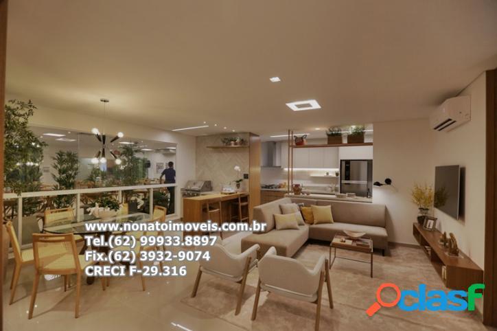 Apartamento para venda, 3 suítes plenas, setor bueno, goiânia-go