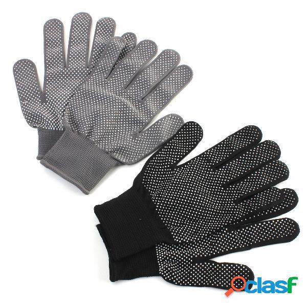 1 pair resistente ao calor alisador de cabelo perm curling cabeleireiro protetor de mão white dot