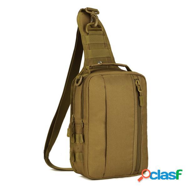 Mens exército militar nylon esportes ao ar livre correndo caminhadas ciclismo viagem 10-inch tablet ipad peito bolsa