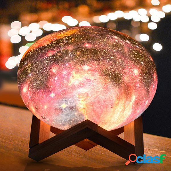 Novo espaço para lâmpada lunar para impressão em 3d led luz noturna controle remoto presente de dia dos namorados com carga usb