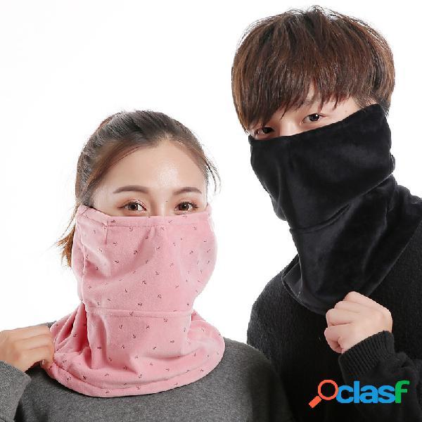 Homens mulheres inverno quente à prova de vento frio à prova de vento ao ar livre ciclismo boca de viagem de esqui rosto máscara cachecol