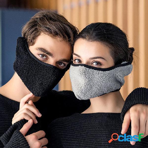 Homens mulheres inverno quente frio à prova de poeira respirável ouvidos quentes ao ar livre ciclismo de esqui de viagem boca máscara