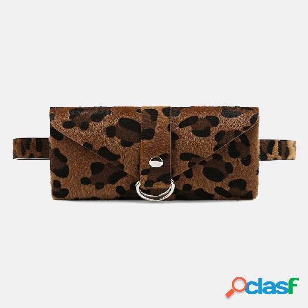 Leopard print waist bolsa carteira celular bolsa para mulheres