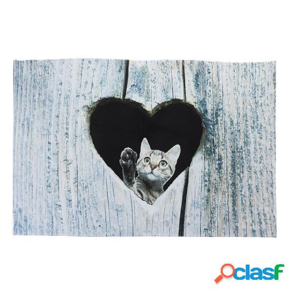 Tapete de porta dos desenhos animados gato bonito tapetes de cozinha tapetes quarto sala de estar tapete