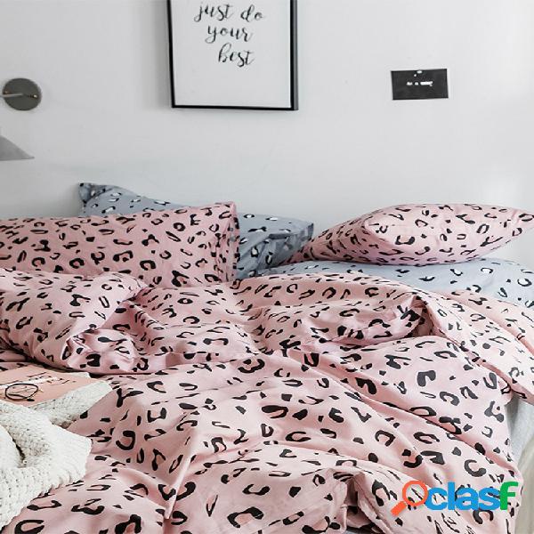 Conjunto de roupa de cama de 3/4 unidades 100% algodão