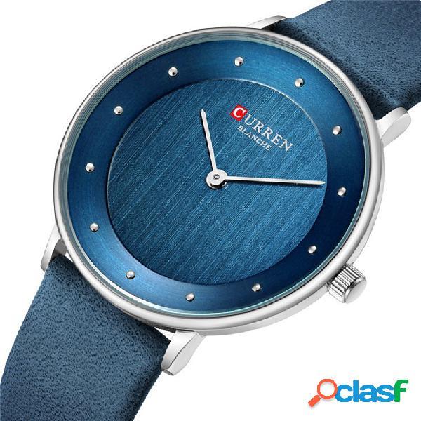 Relógio de quartzo de moda simples relógio concisa relógio de cintura à prova d'água para homens mulheres
