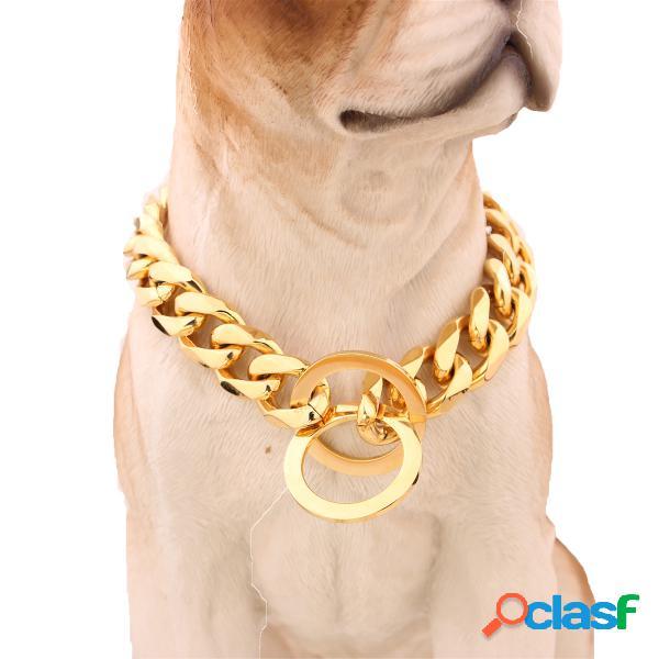 """13mm 12-30 """"pet aço inoxidável colar de cachorro de aço inoxidável 316l curb cuban curb link"""