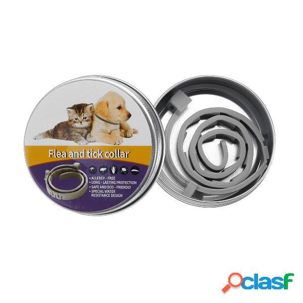 Colar de pulga natural para cães - pulga e carrapato proteção para até 6 meses de proteção contra mosquitos inseto