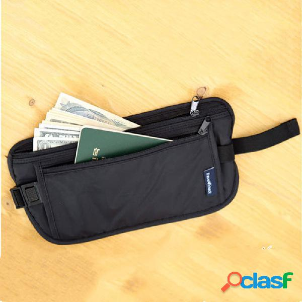 Nylon impermeável bolsos do corpo esportes ao ar livre bolsa