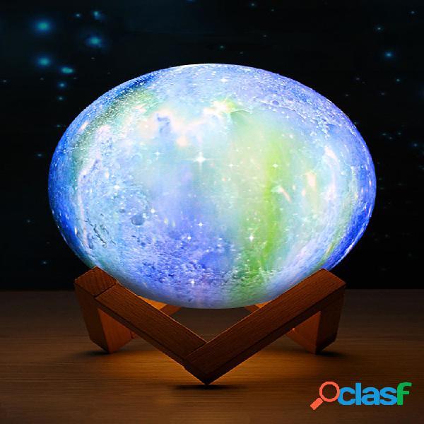 Impressão 3d moon lamp space led night light controle remoto usb charge melhores presentes