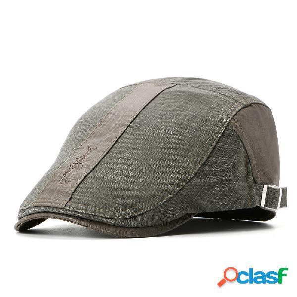 Mens womens verão algodão lavado beret cap pato chapéu sombrinha ocasional pontapés cap frente