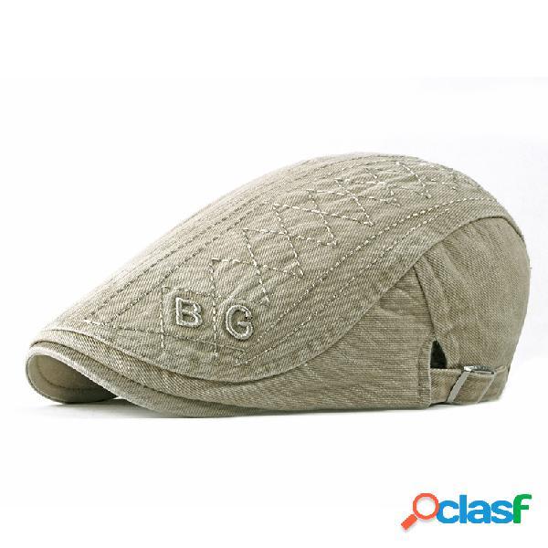Mens womens verão bordado boina cap pato chapéu sombrinha casual ao ar livre ultrapassou cap forward