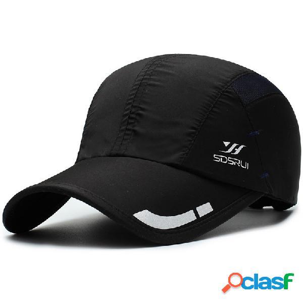 Mens womens verão casual imprimir malha respirável beisebol chapéu outdoor sports sombrinha cap