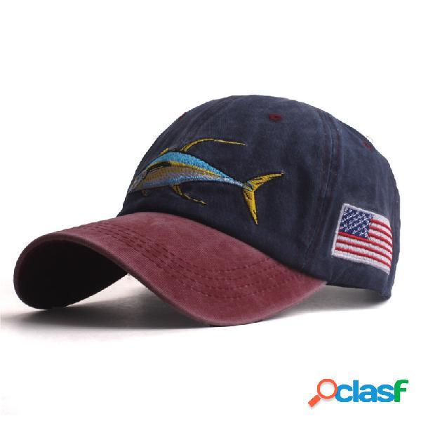 Mens womens verão lavado algodão boné de beisebol ao ar livre esportes esportivos ajustável sombrinha chapéu