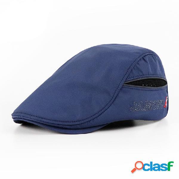 Mens womens verão respirável simples boina cap pato chapéu sombrinha casual ao ar livre repicado cap para a frente