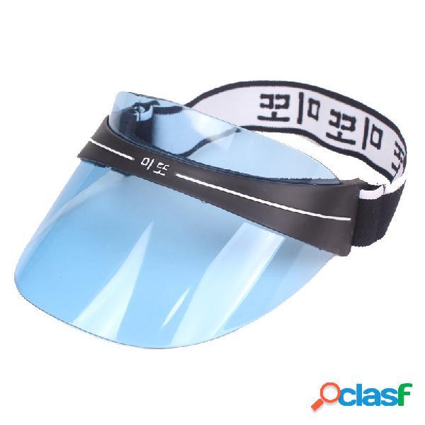 Womens uv proteção visor vazio topo chapéu ao ar livre ocasional toldo à prova de vento equitação acrílico chapéu