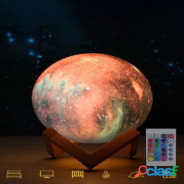 Impressão 3d lua lamp space led night light controle remoto usb charge home decor