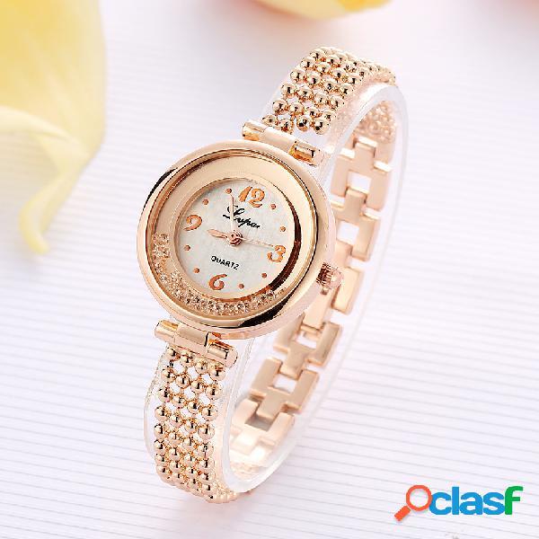 Elegante design brilhando mulheres pulseira de relógio de strass relógio de quartzo