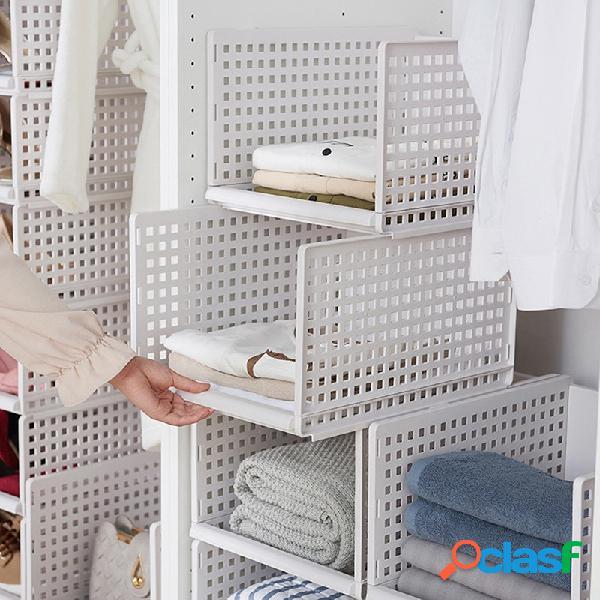 Armazenamento multifuncional caixa gaveta tipo cestas de organização de cozinha de prateleira de guarda-roupa
