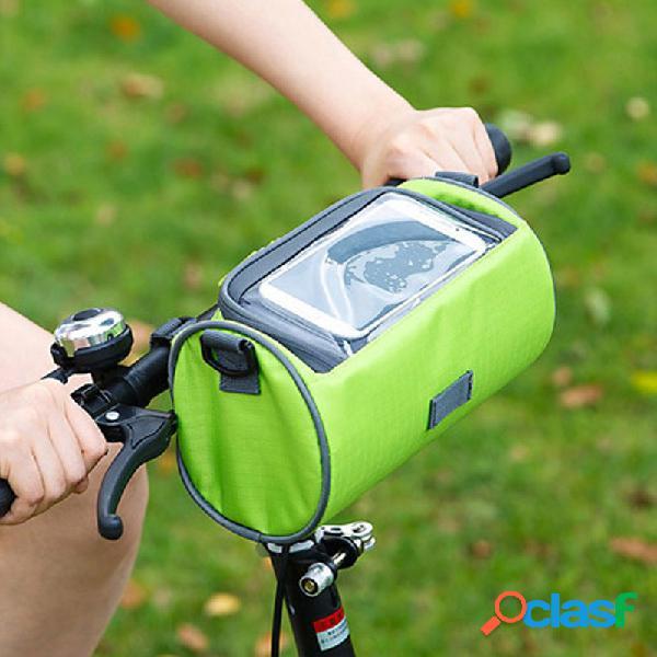 Oxford pano material zíper cor sólida esportes ao ar livre equitação bolsa bicicleta visual armazenamento bolsa