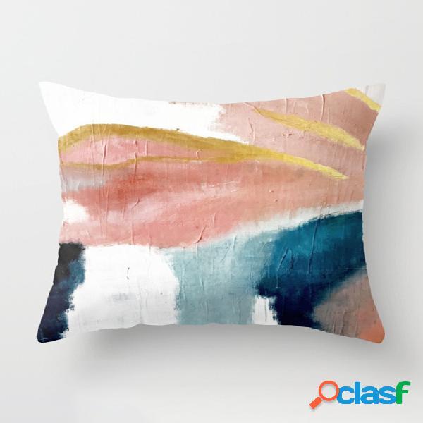Ins abstrato linho pintado de algodão fronha de almofada para fronha decoração de janelas sofá casa