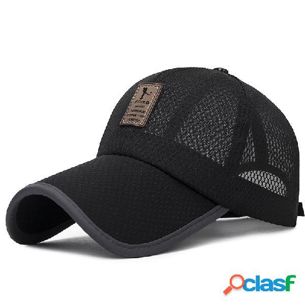 Mens womens summer mesh visor boné de beisebol esportes ao ar livre respirável ajustável chapéu