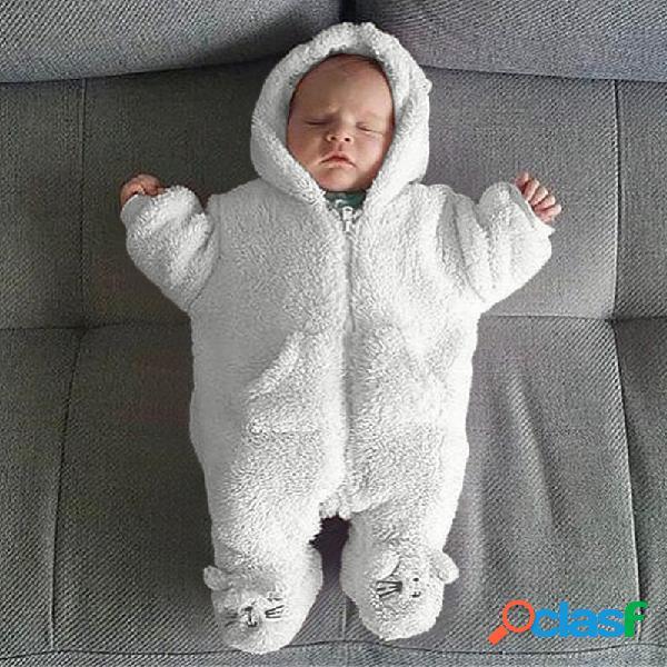 Branco bebê soft sleeping bolsa warm & velvet for 0-24m