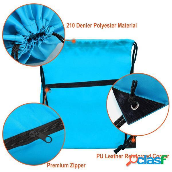 Compartimento com cordão com zíper de armazenamento bolsa com fone de ouvido multi-função mochila esportes ao ar livre