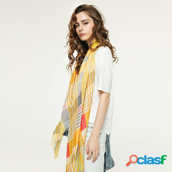 Xaile fino multicolorido de costura das senhoras do lenço da manta das mulheres multicolor xaile