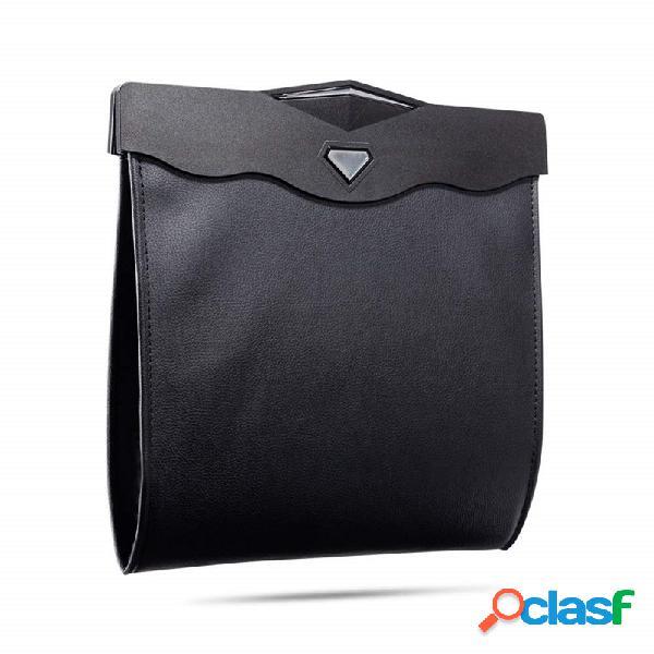 Car storage bolsa pendurado escondido dobrável de armazenamento bolsa multi-função led lixo leve bolsa