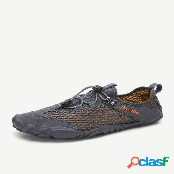 Malha de secagem rápida masculina super soft outdoor multifuncional boating water sapatos