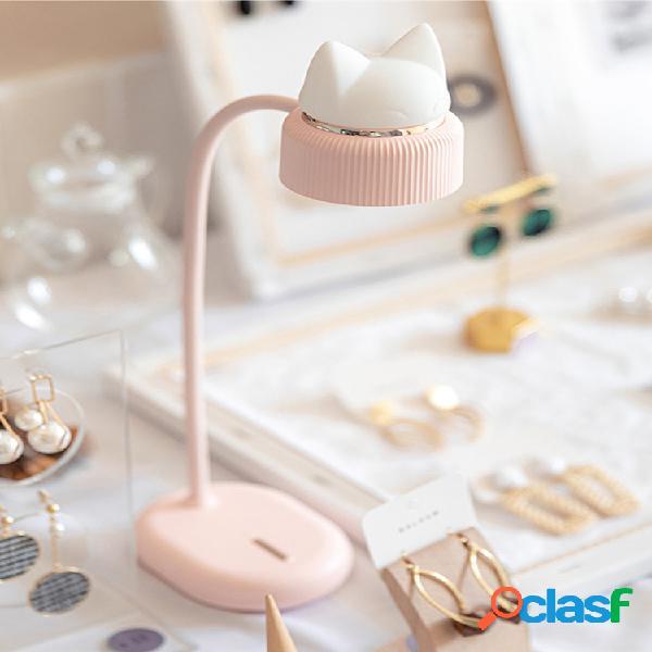 3life lâmpada de mesa flexível led lâmpada de mesa ajustável com três marchas cat de leitura de