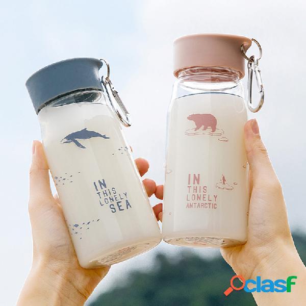 Copo de plástico dos desenhos animados animais padrão portátil caneca de leite de água garrafa de café melhor presente
