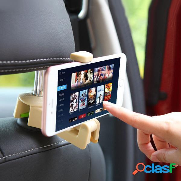 Suporte do telefone do encosto de cabeça do telefone do carro abs armazenamento cabide gancho bolsa organizador do suporte de pano