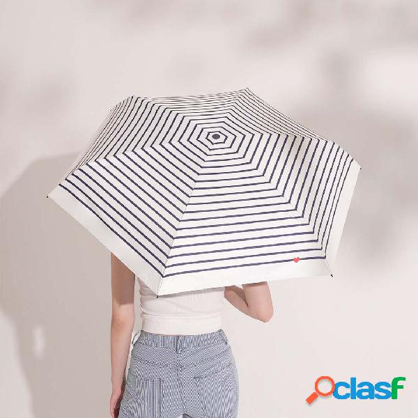 Cinco guarda-sol dobrável protetor solar à prova de vento ultra leve e armazenamento ultra-curto à prova de chuva