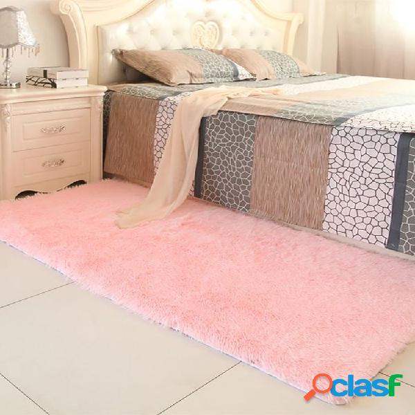 Tapete da moda 90x160 cm tapete do chão do quarto cobertor macio antiderrapante com almofada doméstica