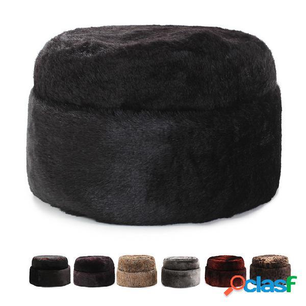 Algodão das mulheres dos homens chapéu pai juba chapéu inverno russo de ushanka chapéu