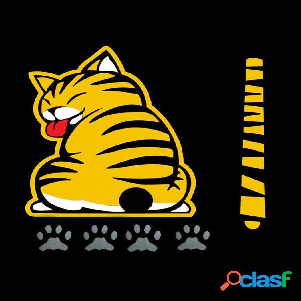 Gato bonito cauda-movendo adesivos de janela de carro adesivos limpador adesivos pára-brisa traseiro