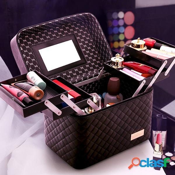 Quatro armazenamento aberto para cosméticos bolsa armazenamento portátil de grande capacidade bolsa