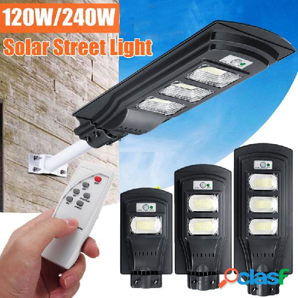 Augienb 120w / 240w / 360w solar led lâmpada de parede radar poste super bright pir motion sensor lâmpada de segurança para jardim externo