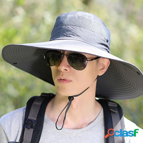 Chapéu pescador masculino chapéu penny extragrande chapéu sol de escalada respirável chapéu pesca ao ar livre chapéu