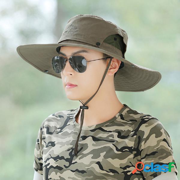 Sun chapéu masculino pesca ao ar livre chapéu masculino sun chapéu tampa face uv proteção respirável pescador chapéu