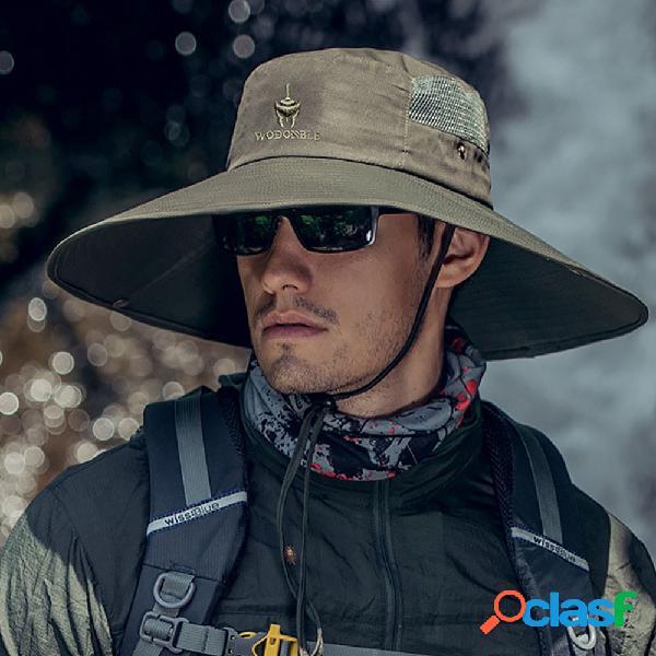 Sun chapéu masculino sun chapéu outdoor sun chapéu big brim respirável fisherman chapéu alpinismo chapéu pesca chapéu