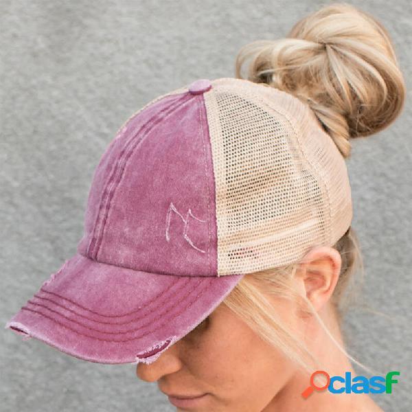Chapéu protetor solar feminino ao ar livre boné de beisebol da moda verão casual chapéu uv proteção