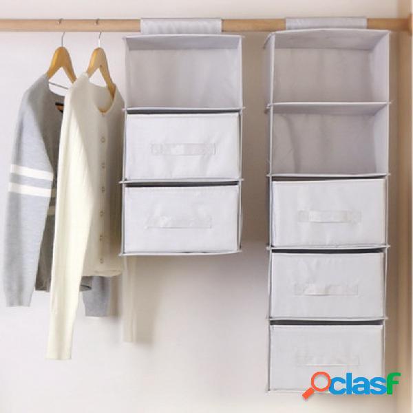 Armazenamento de tecido oxford suspenso bolsa armazenamento de roupa íntima de tecido suspenso bolsa com gaveta dobrável armazenamento de guarda-roupa bolsa